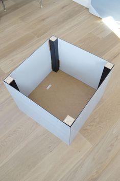 ikea hack lack table with plexiglas ikea hack lack tisch mit plexiglas schlafzimmer in 2019. Black Bedroom Furniture Sets. Home Design Ideas