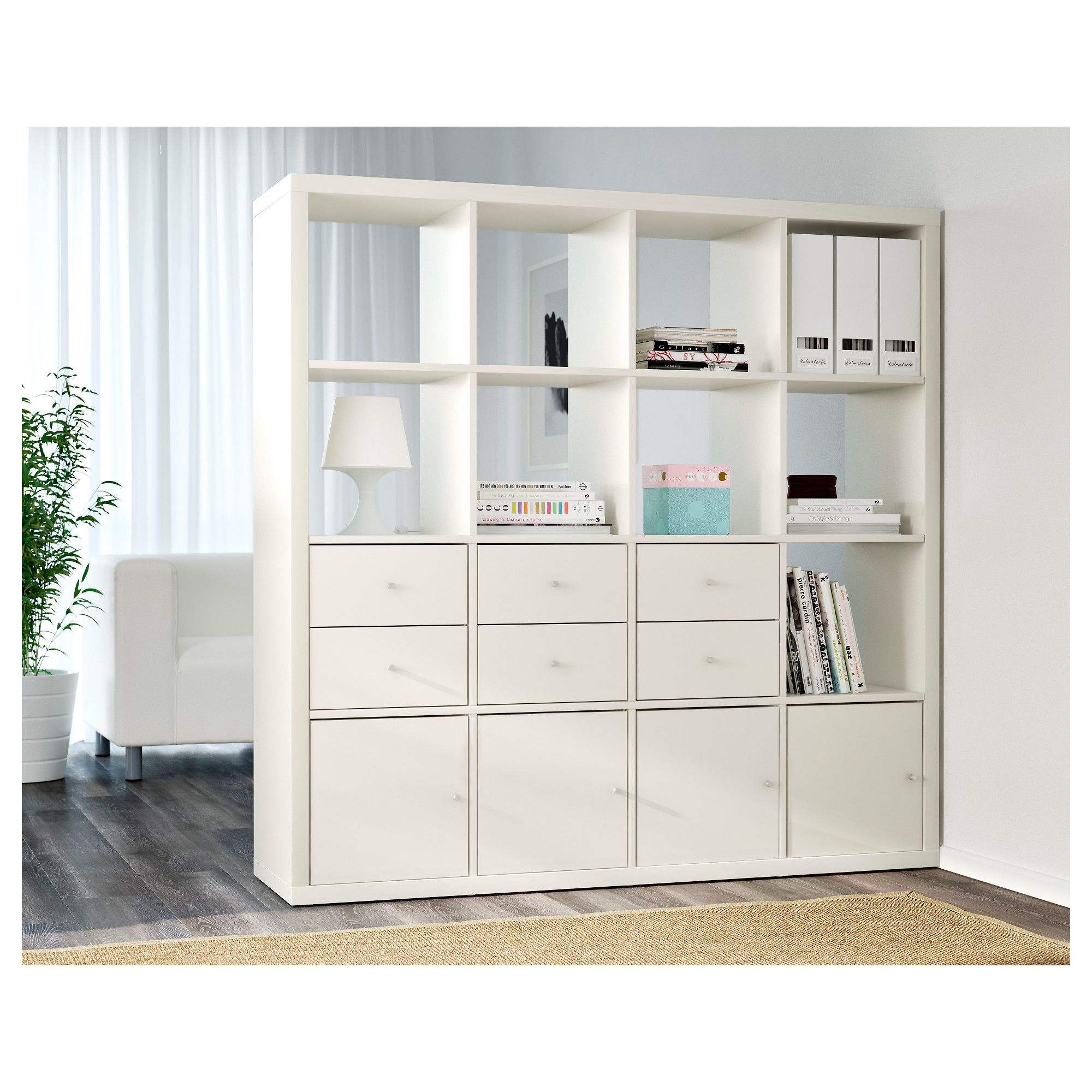 KALLAX Shelf Unit   White   IKEA Storage Shelf With Bins, Toy Storage Cubes,