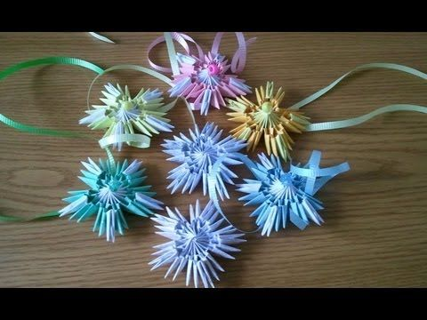 How To Make 3d Origami Snowflake Or Christmas Trees Top