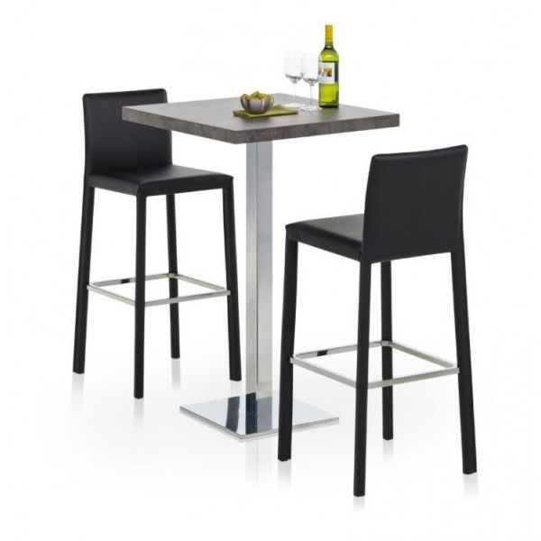 Table De Cuisine Carree Mange Debout En Stratifie Carre