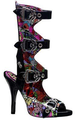 ZOMBIE 102 Black Graffiti Boots   My Style   Calf boots