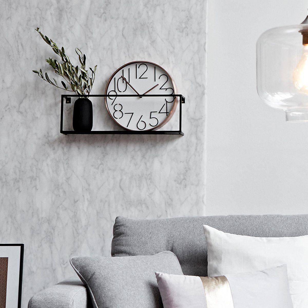 wandregal aus metall b 50 x h 16 x t 8cm schwarz schwarz living pinterest. Black Bedroom Furniture Sets. Home Design Ideas