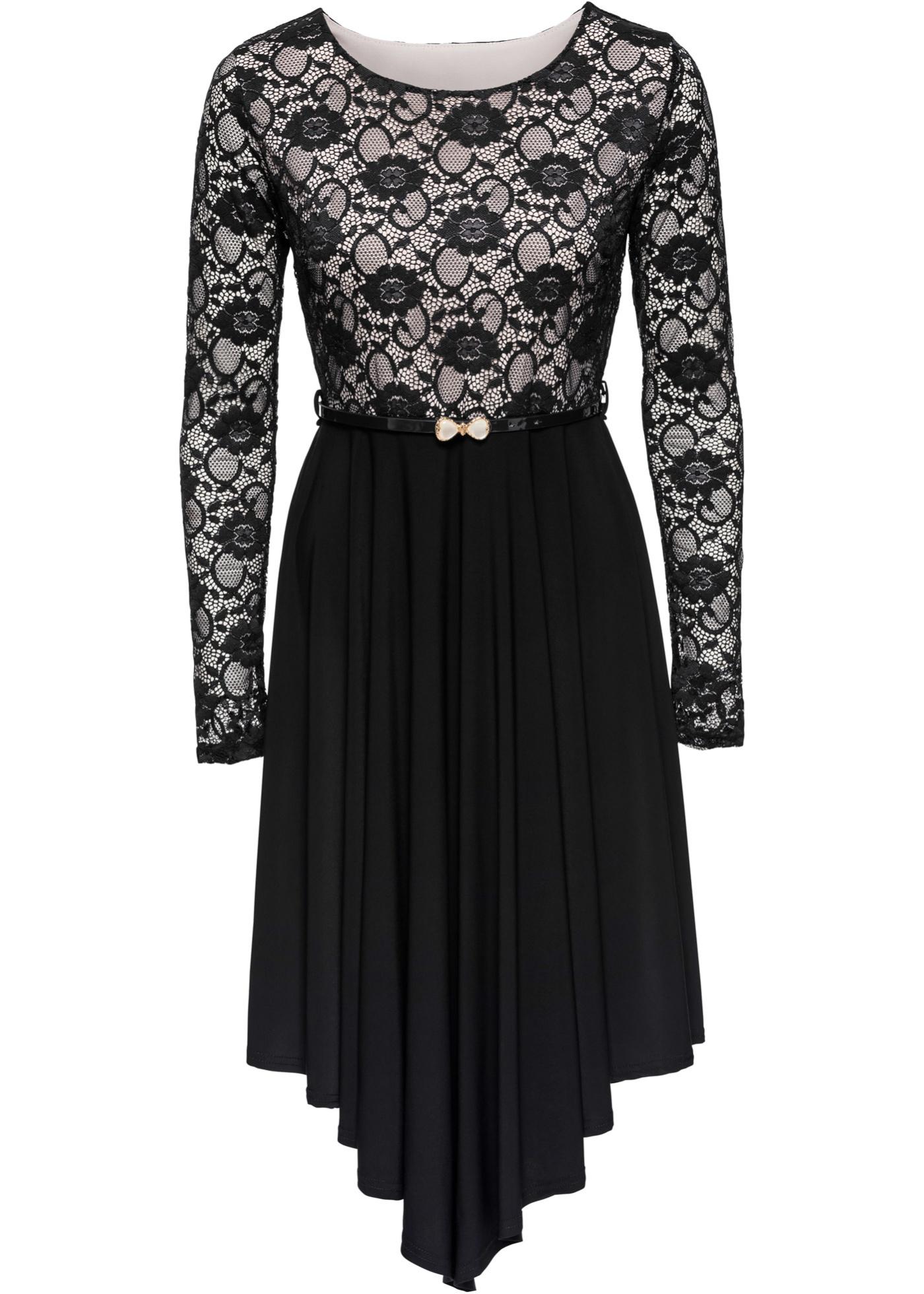 Kleid mit Spitze  Kleid spitze, Kleider und Langärmelige kleider