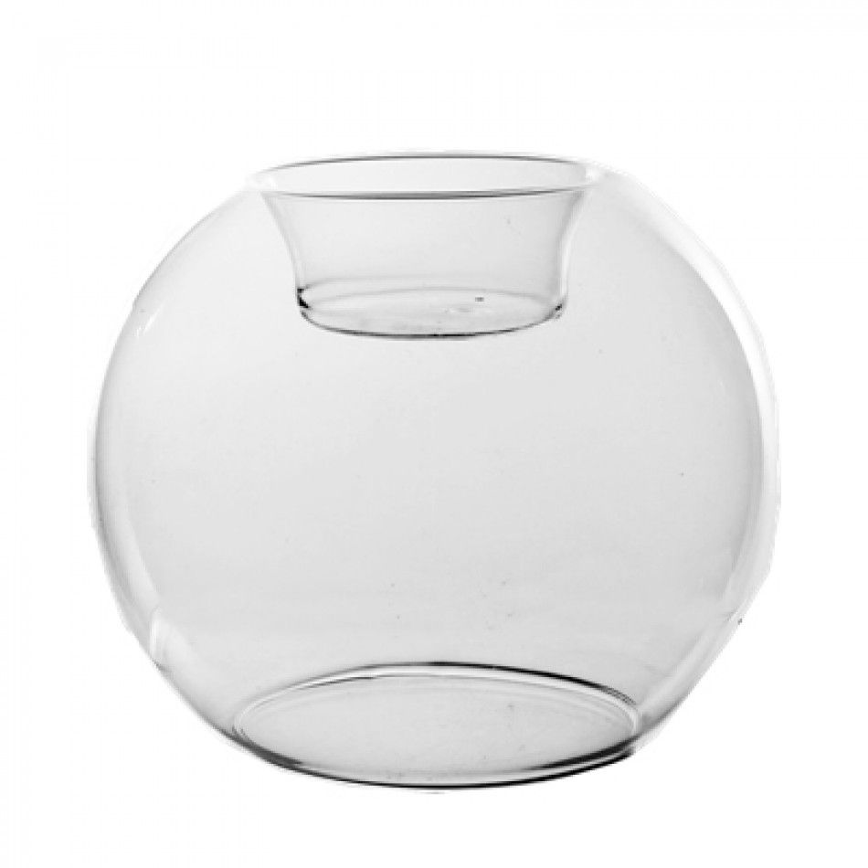 4.25 Clear Glass Tealight Candle Holder/Bubble Bowl (Case of 24 ...