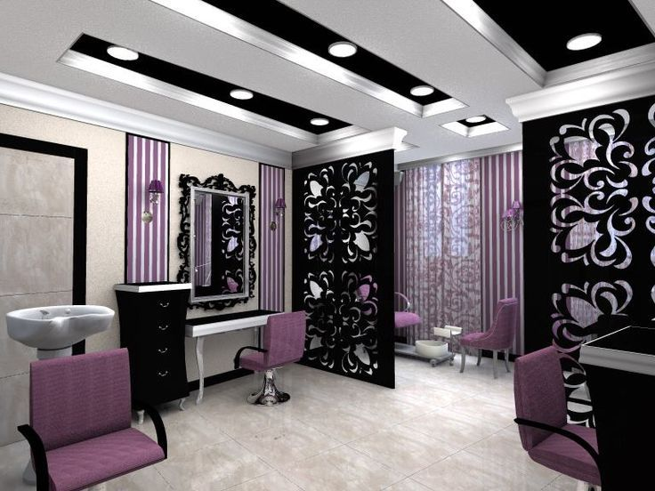 Pink And Purple Salon Decorations Google Da Ara With Images