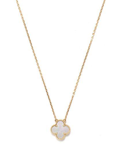 Van cleef arpels mother of pearl alhambra pendant necklace van cleef arpels mother of pearl alhambra pendant necklace aloadofball Image collections