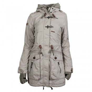 Devin Khujo Jacket Parka Dusty Cuffs And White Inner With roWBxCde