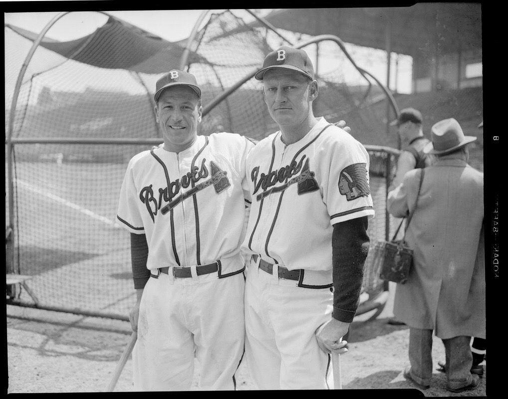 Phil Masi And Bob Elliott Mlb Uniforms Braves Baseball Baseball History