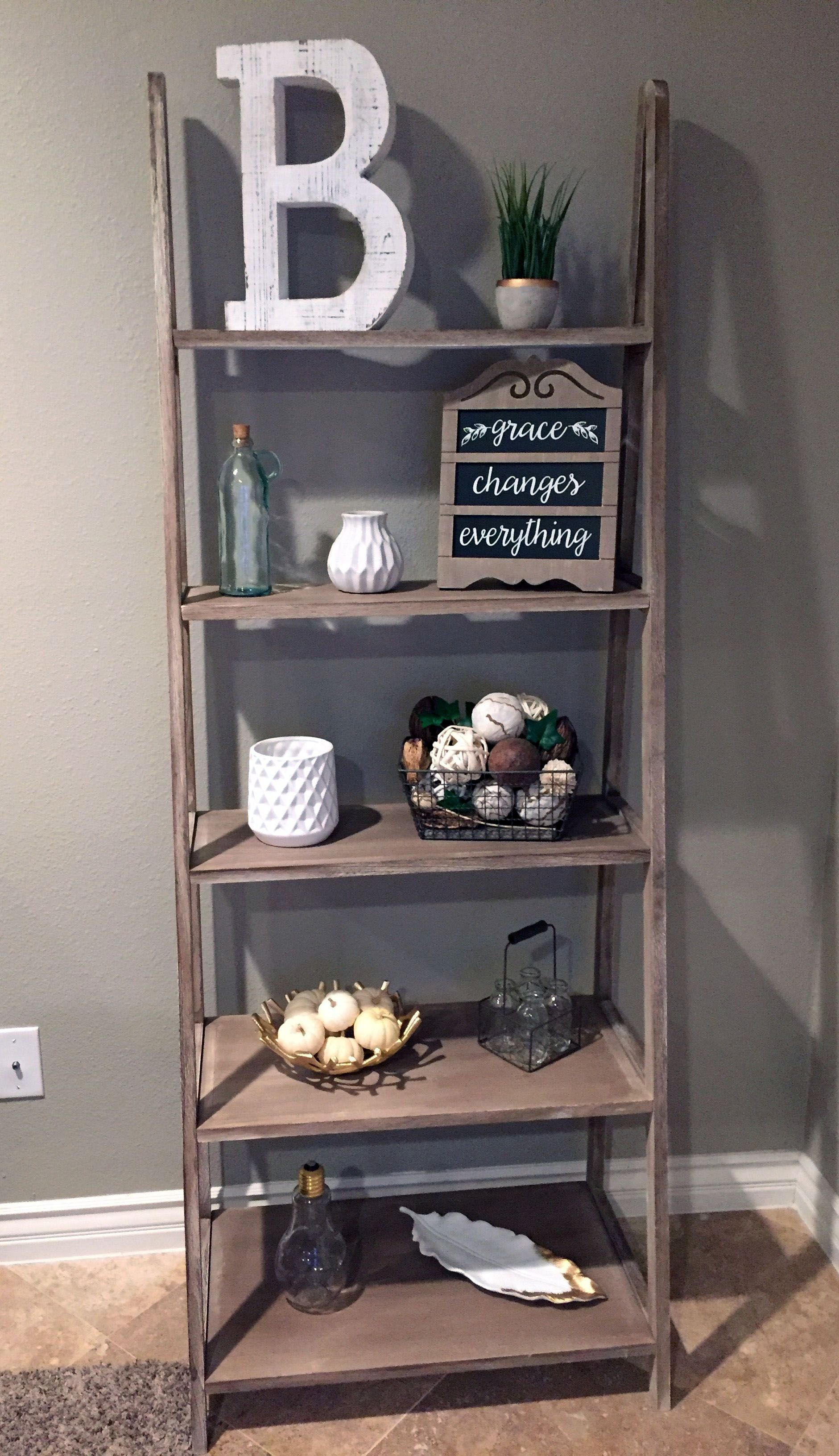Do It Yourself Step Ladder Shelves (With images) | Shelf ...