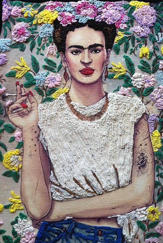 Frida Kahlo T-shirt |  Frida Tshirt |  Fab Ceraolo Portrait Painted on Tee Shirt | Women Graphic T shirt