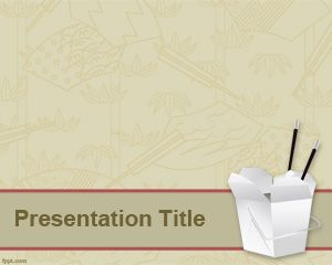 Free Powerpoint Template  Chinese Food Background Graphics