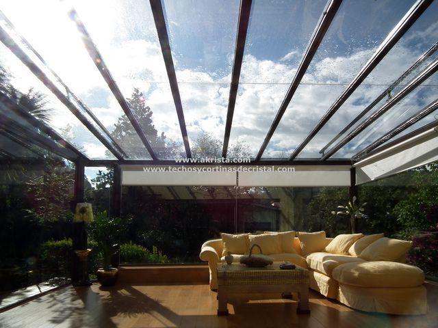 Terraza con techo de cristal Techos terrazas Pinterest Techo - cortinas para terrazas