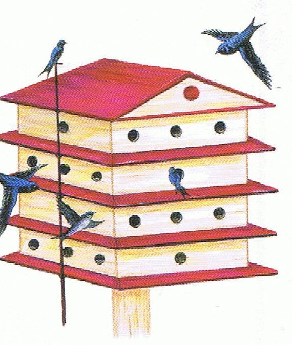 make your own purple martin house (house plans) instant download