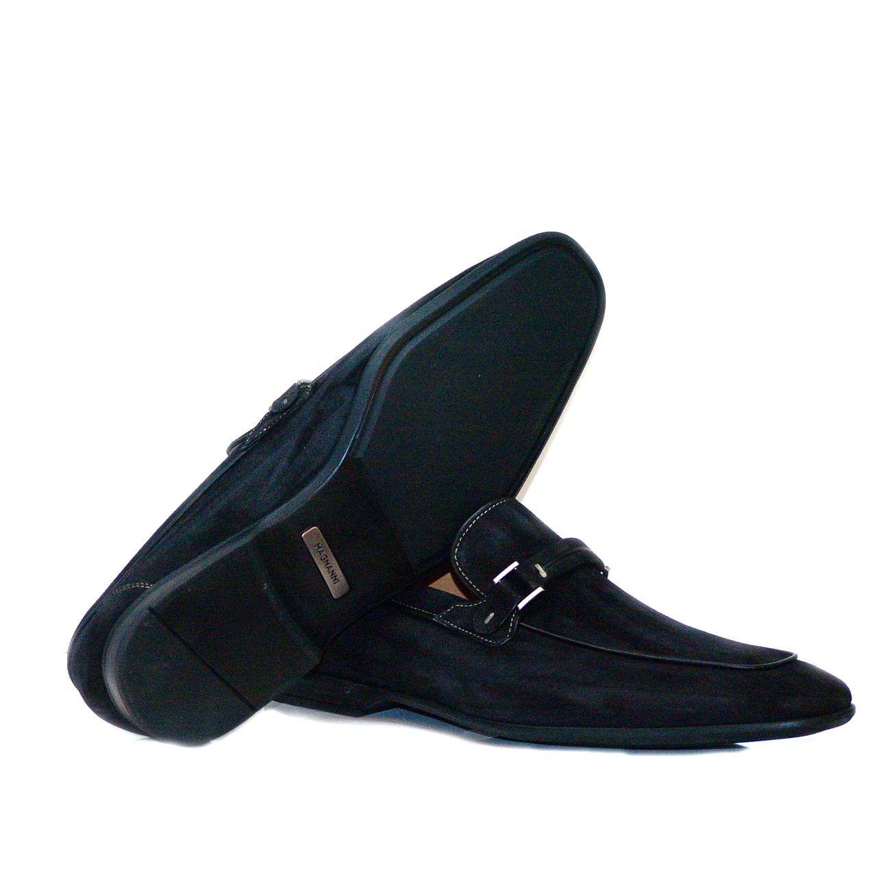 Magnanni 13017 Black Suede Pelleline Com Dress Shoes Men Loafers Men Oxford Shoes [ 1280 x 1280 Pixel ]