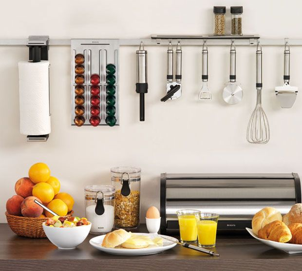 Organizador para cocinas extrechas ideas for home for Utensilios de cocina kitchen