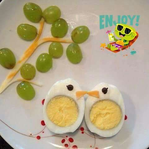 Hard boiled egg lovebirds creative food pinterest egg and food food hard boiled egg lovebirds forumfinder Gallery