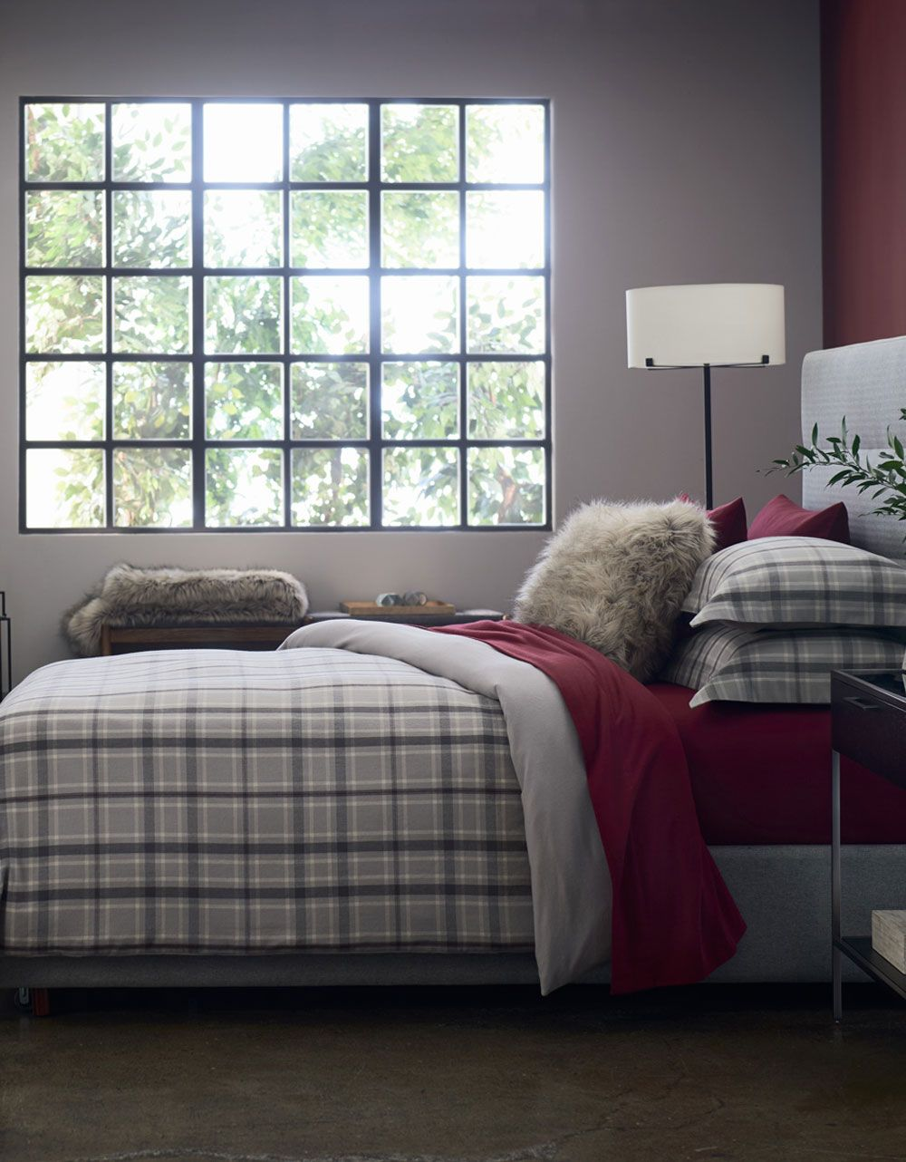Red flannel sheets  Walker Flannel Bed  Red accents Bedding collections and Cozy