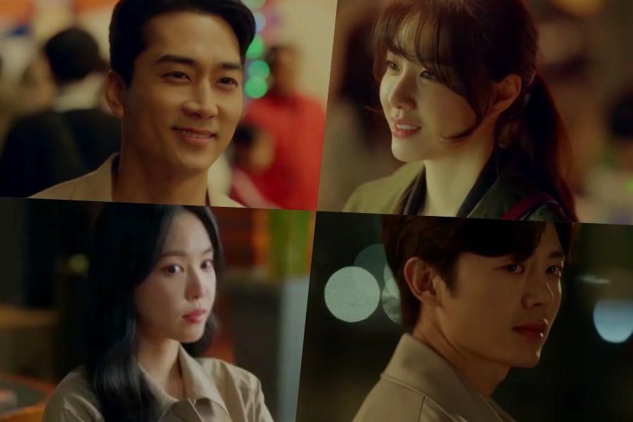 Watch: Song Seung Heon, Seo Ji Hye, Lee Ji Hoon, And Apink's Son Naeun's Lives Cross Over In New Drama Teaser