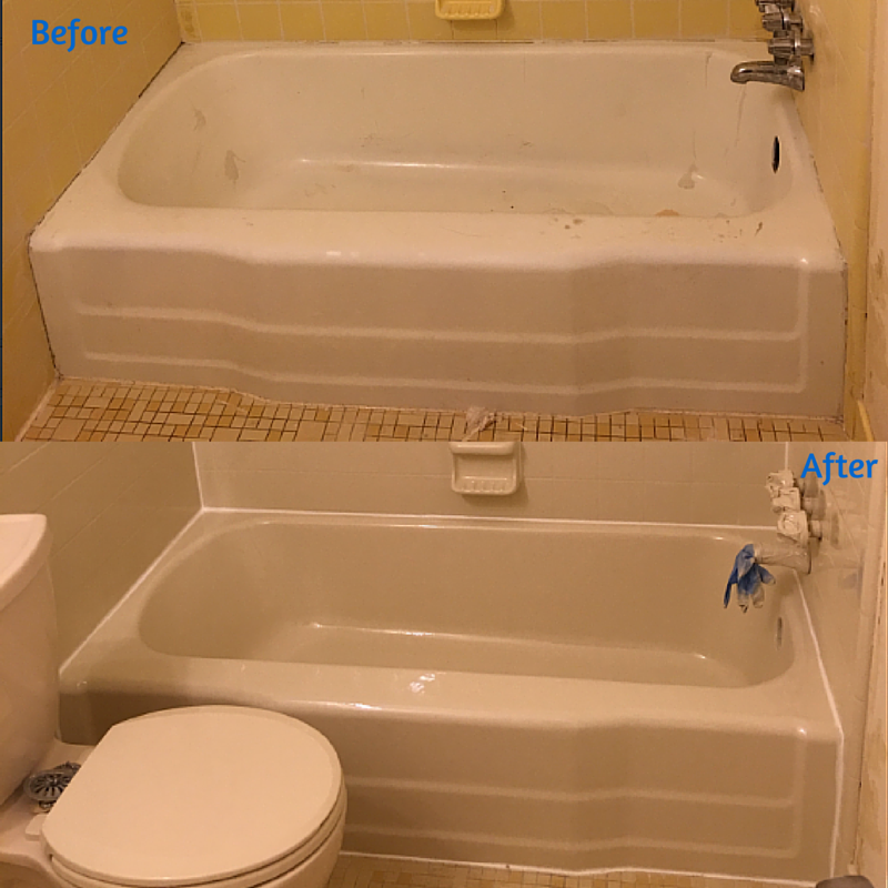 This Peeling Tub Was Resurfaced In One Of Our Off White Finishes