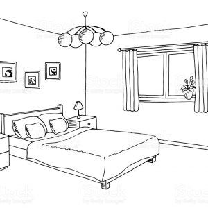 Bedroom Black And White Clipart