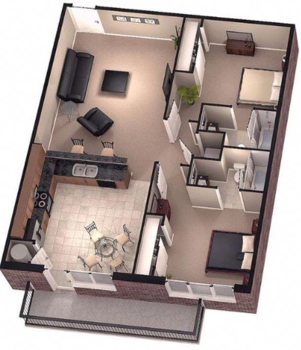 bedroom house plans planos de casas casaspequenas apartment layout design also casa interes social life in rh pinterest