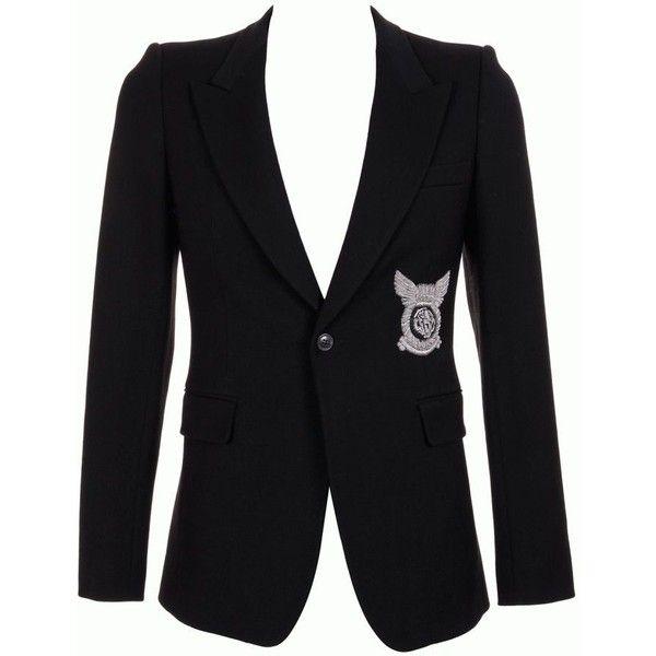 BALMAIN Jacket (€1.485) ❤ liked on Polyvore featuring outerwear, jackets, blazer, men, balmain jacket, military fashion, military inspired jacket, summer jacket and biker jacket
