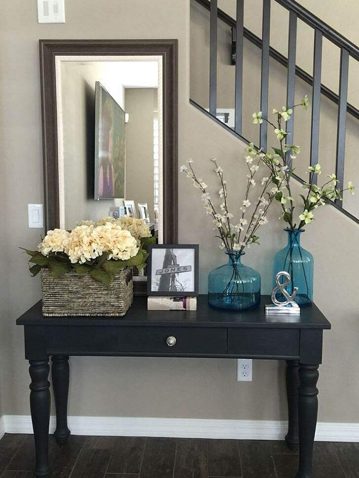 Hallway Console Table And Mirror diy console table project | tall candle holders, house and decorating
