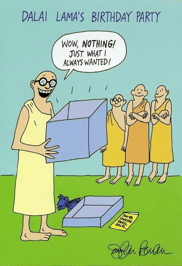 Happy Birthday Intelligent Humor Dalai Lama Yoga Jokes