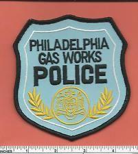 Philadelphia Pennsylvania Gas Works Police Patch Law Enforment