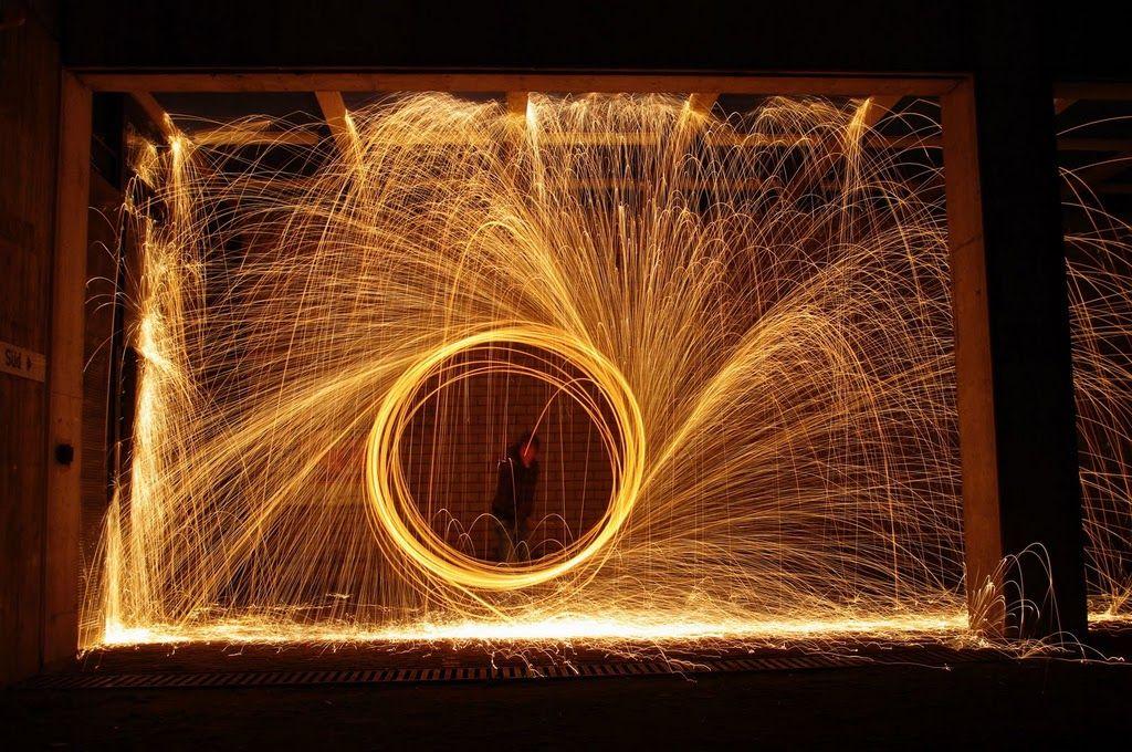 steel wool on fire