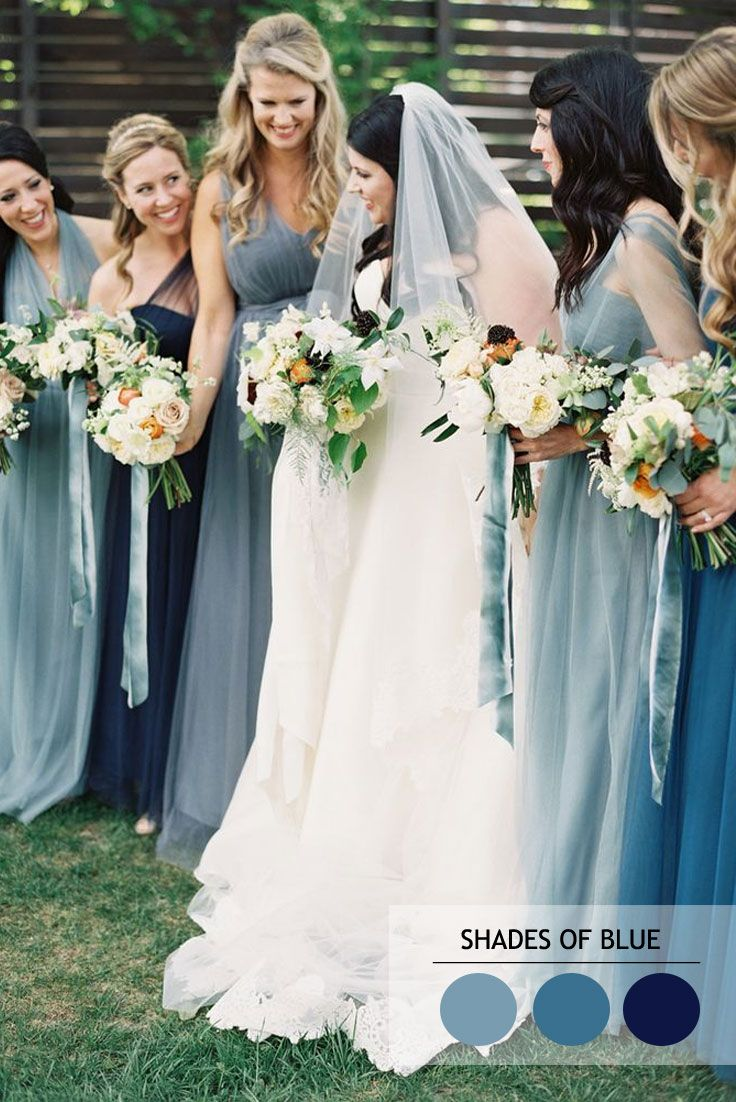 Mix and Match Bridesmaid Dresses by Colours | Brautjungfernkleider ...