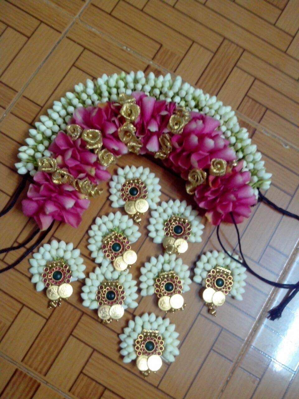 flower accessories | marriage hair style | indian wedding