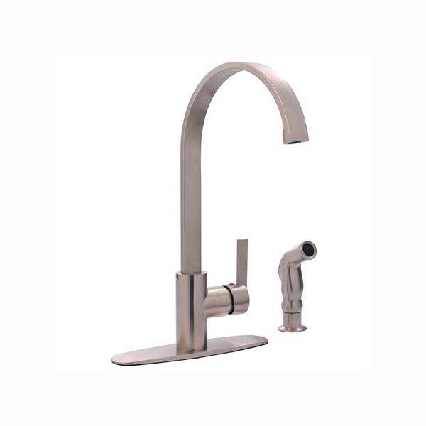 Gourmetier GS871 Continental Single Handle Kitchen Faucet | Lowe\'s ...