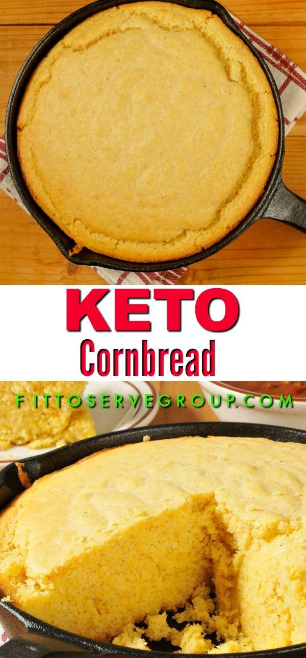 Stop missing cornbread while doing keto, with this delicious, easy keto cornbrea…