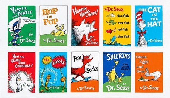 picture relating to Dr.seuss Book Covers Printable identified as DR SEUSS Cloth / Panel For Quilting / 10 Preferred Guide
