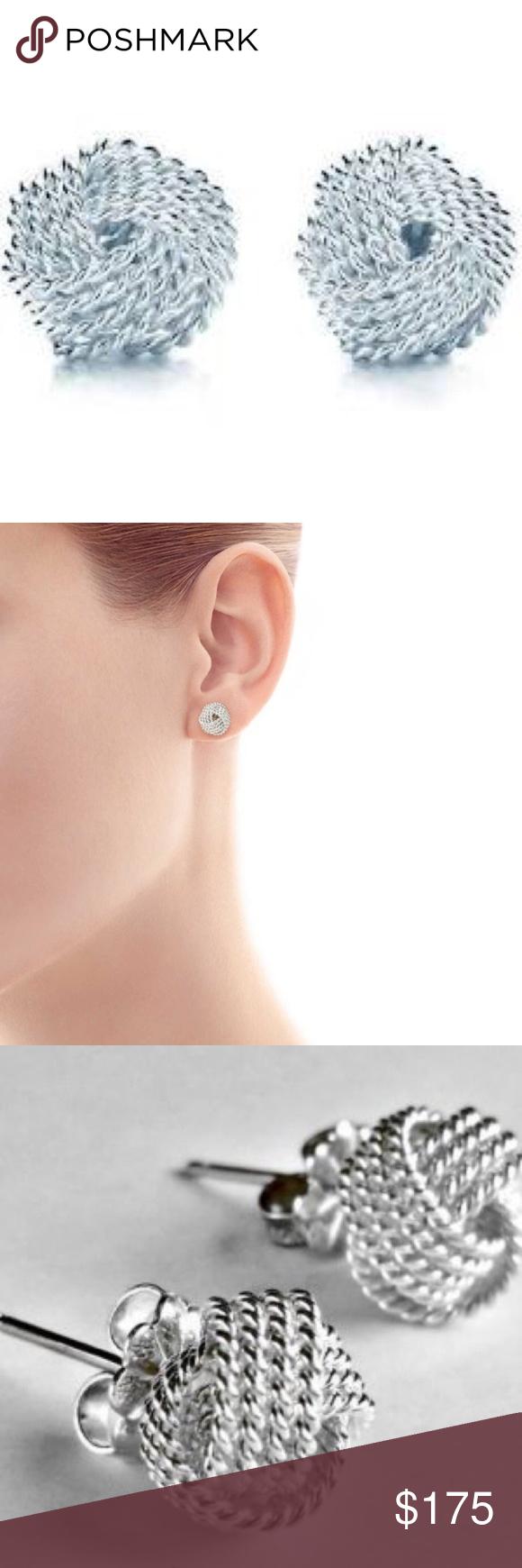 Tiffany Twist Knot Earrings In Sterling Silver For