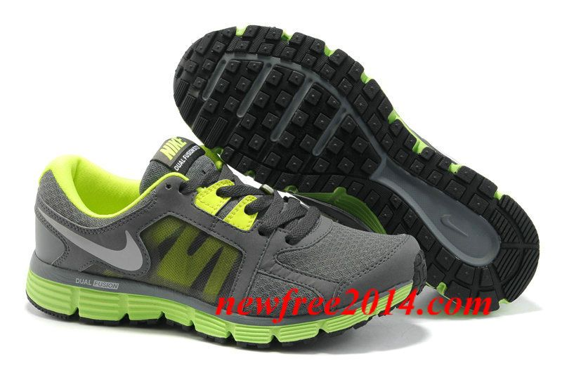 ff2975bf252 Mens Nike Dual Fusion ST 2 Dark Grey Volt Metallic Silver Shoes ...