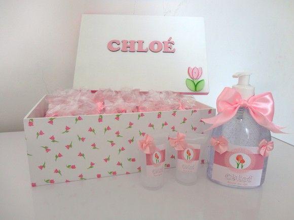 Kit lembrança de maternidade Alcool em gel! Caixa personalizada com 40  lembrancinhas em alcool em a3785ae59e