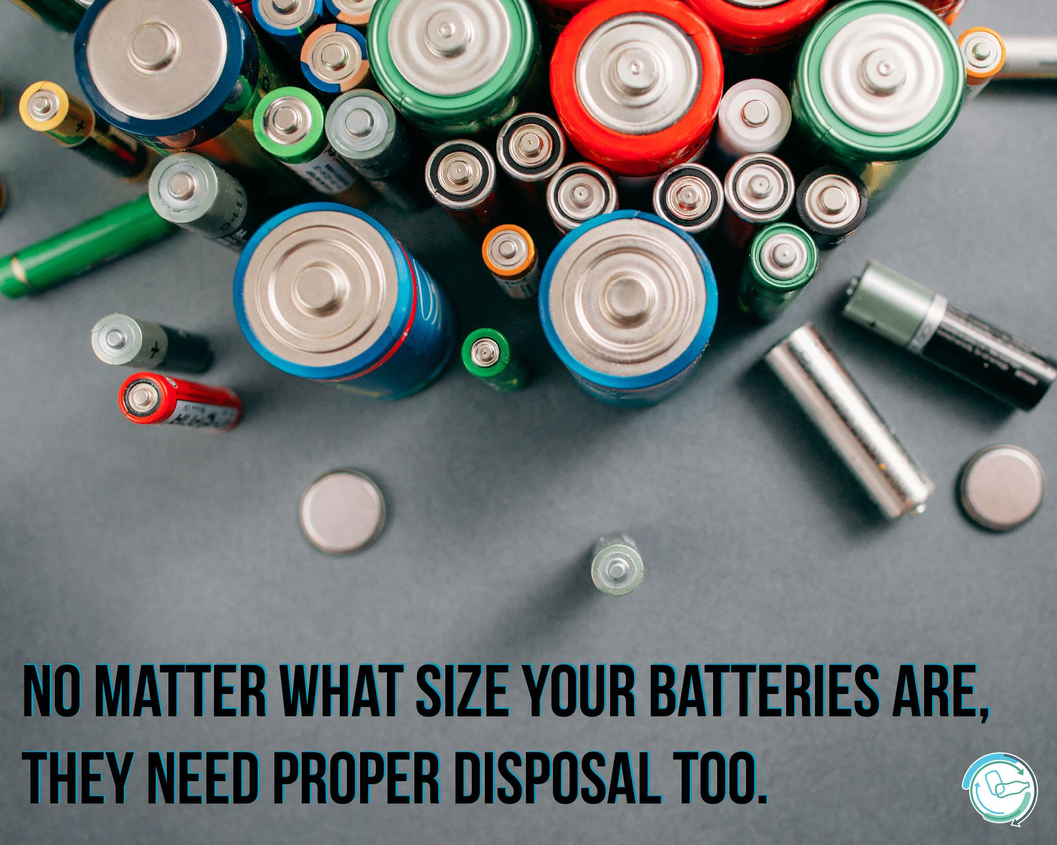 Properly Dispose Of Your Batteries Battery Recycling Recycling Recycling Bins