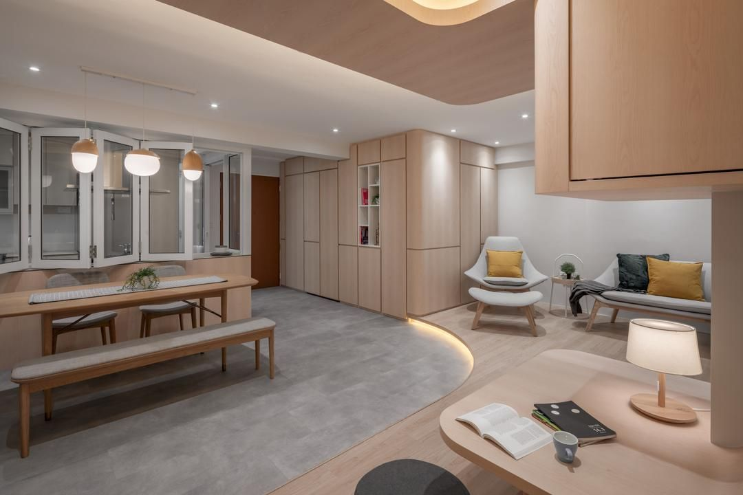 4 Room Hdb Layout Planning Made Easier With These Ideas Here Are 6 Design Solutions Based On Common 4 Room Floo Interior Design Singapore Interior Design Room
