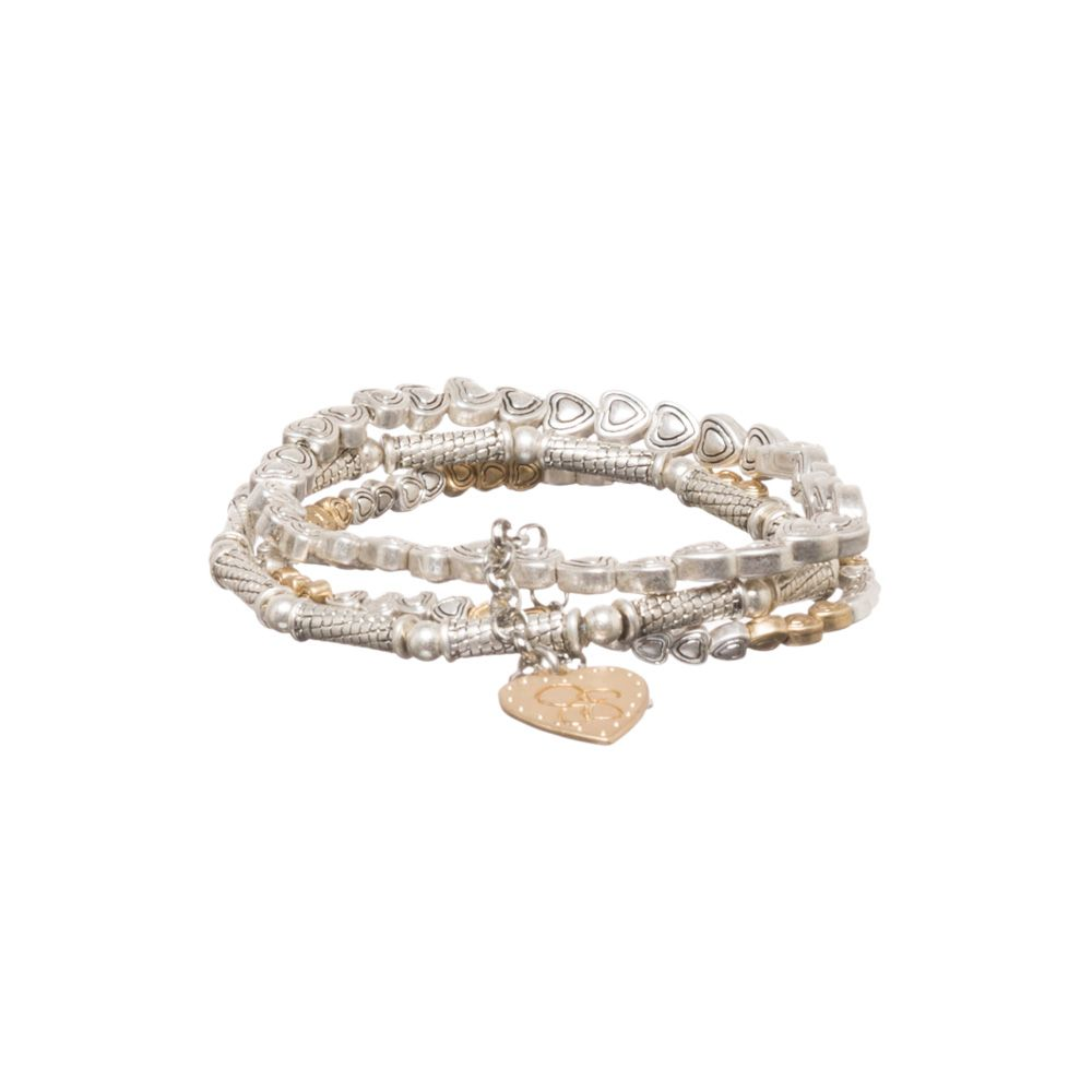 Jessica Simpson Heart Bracelet Set Silver/Gold up to 70% off | Jewelry | Little Black Bag