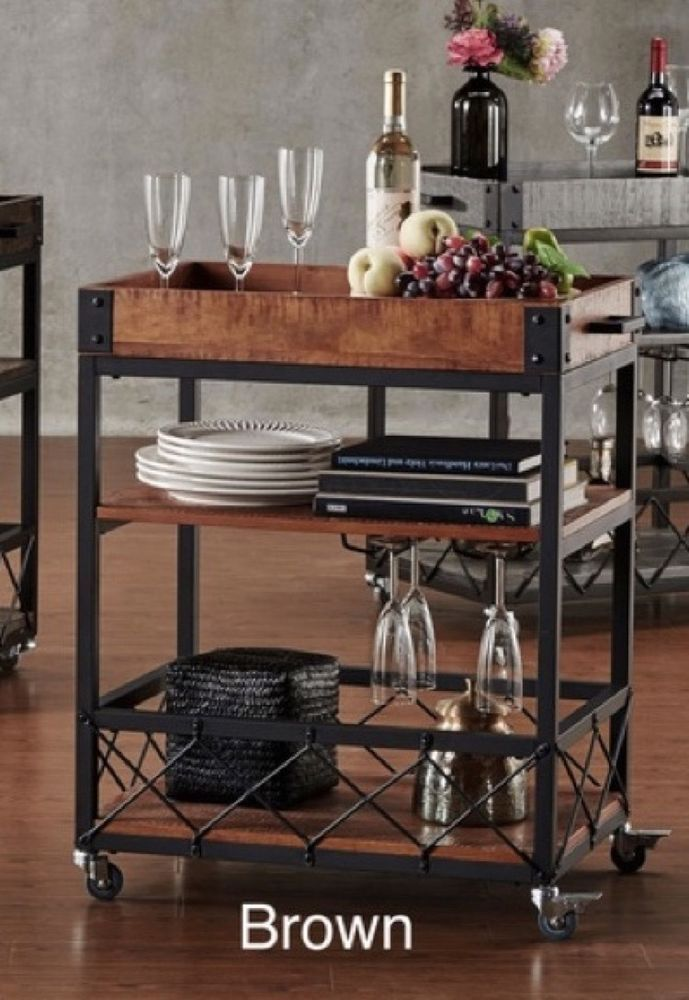 Mini Bar Cart On Wheels Small Kitchen Outdoor Serving Patio Mobile Wine Glasses Wine Cart Serving Cart Kitchen Bar