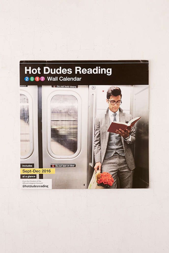 Hot Dudes Reading Wall Calendar  Reading Wall And Walls