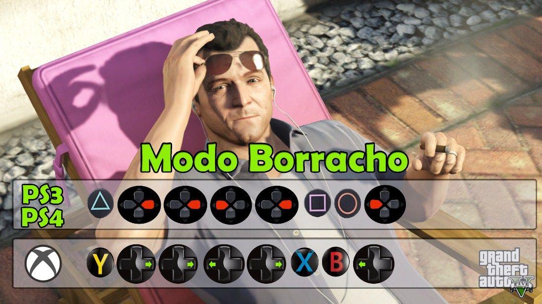 Modo Borracho Trucos De Gta 5 Trucos Para Gta V Trucos De Gta