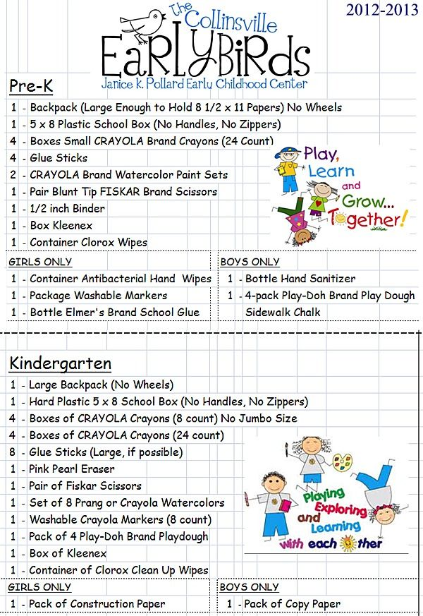 school supply list for pre k - Google Search hot dog Pinterest - copy pre kindergarten certificate printable