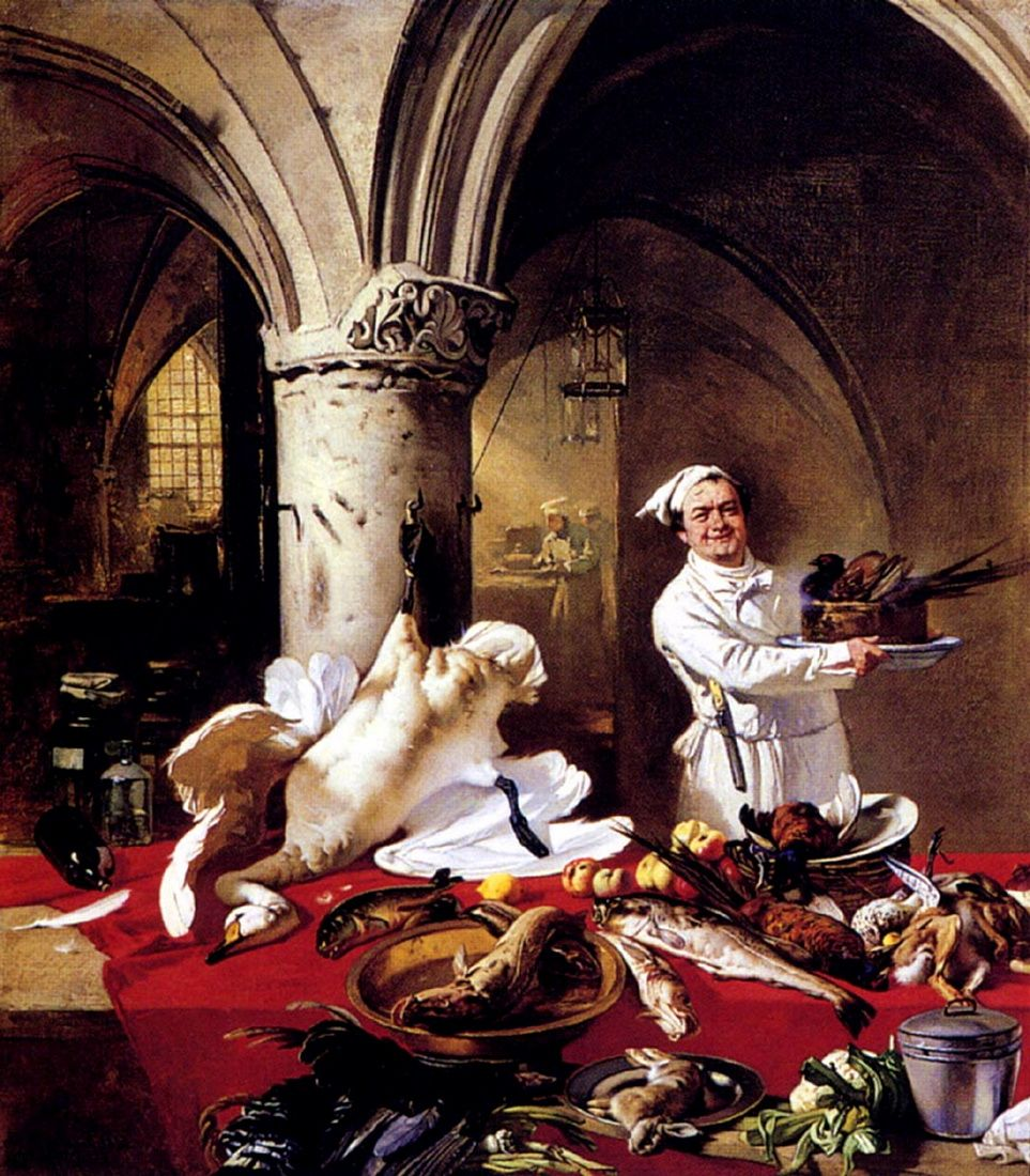 Charles Hoguet (1821-1870) - Les Preparatifs Du Festin