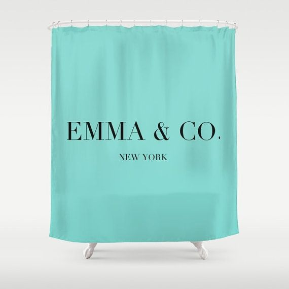 Breakfast At Tiffanys Personalized Shower Curtain Girls Curtains Bathroom Decor Fabr