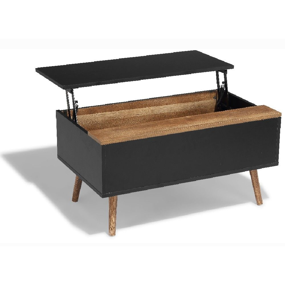 Table Basse Up Down Anais Miel Et Noire Meuble Gifi Table