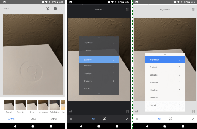 Snapseed adds dark theme, adaptive icon in first Android