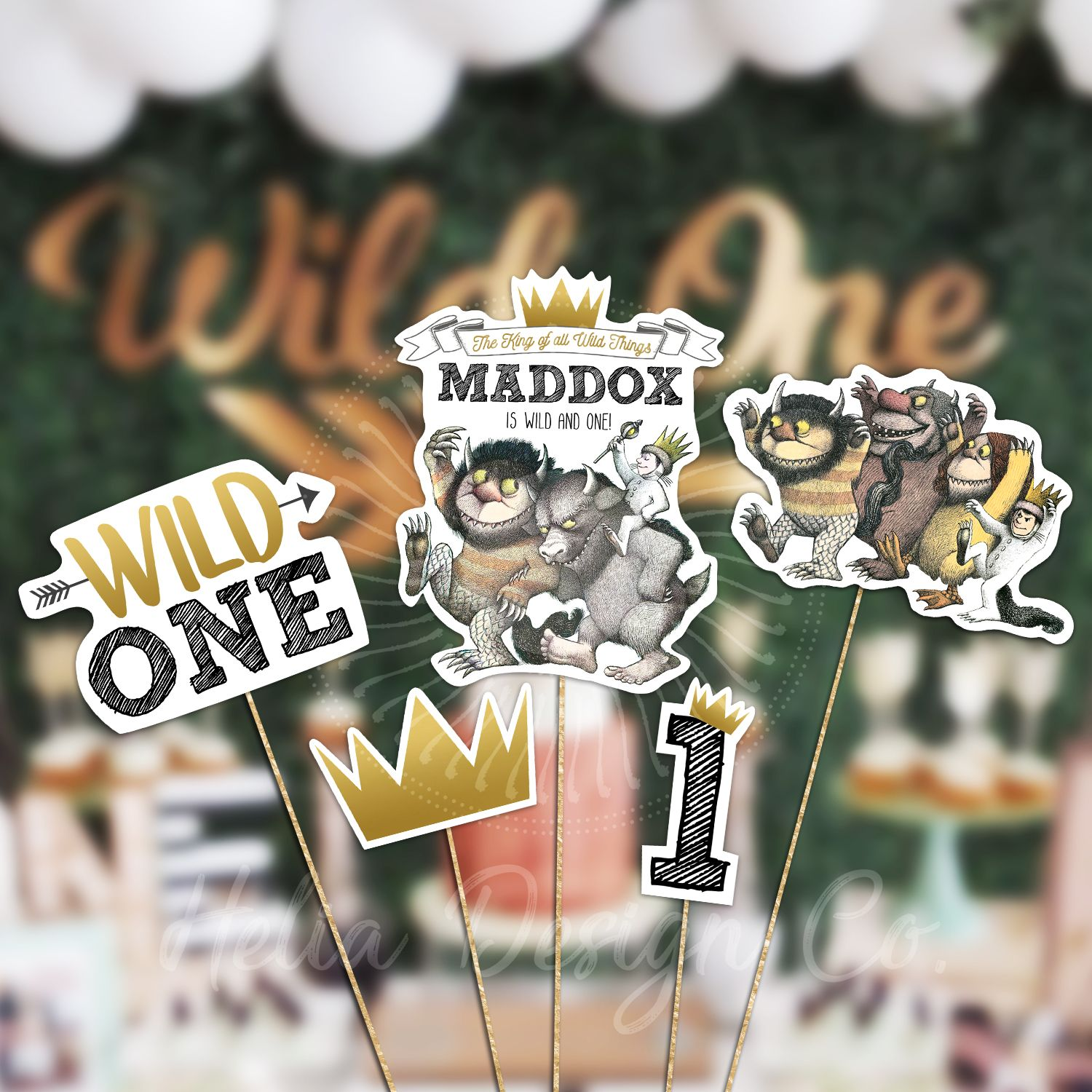 Personalized centerpiece where the wild things are